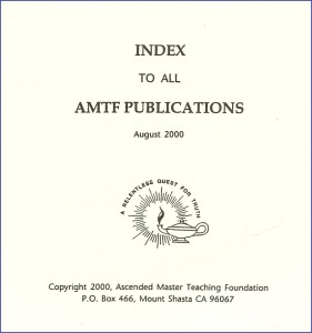 Index to All AMTF Publications