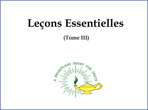 Leçons Essentielles (Tome III)
